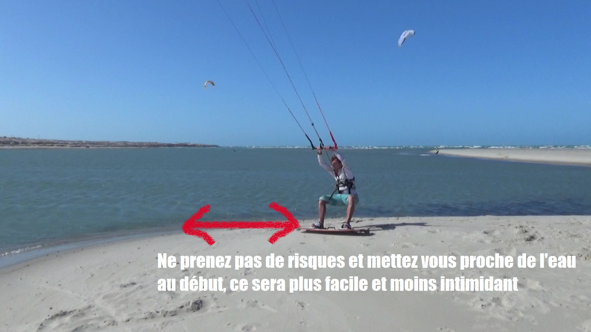 beach start kitesurf