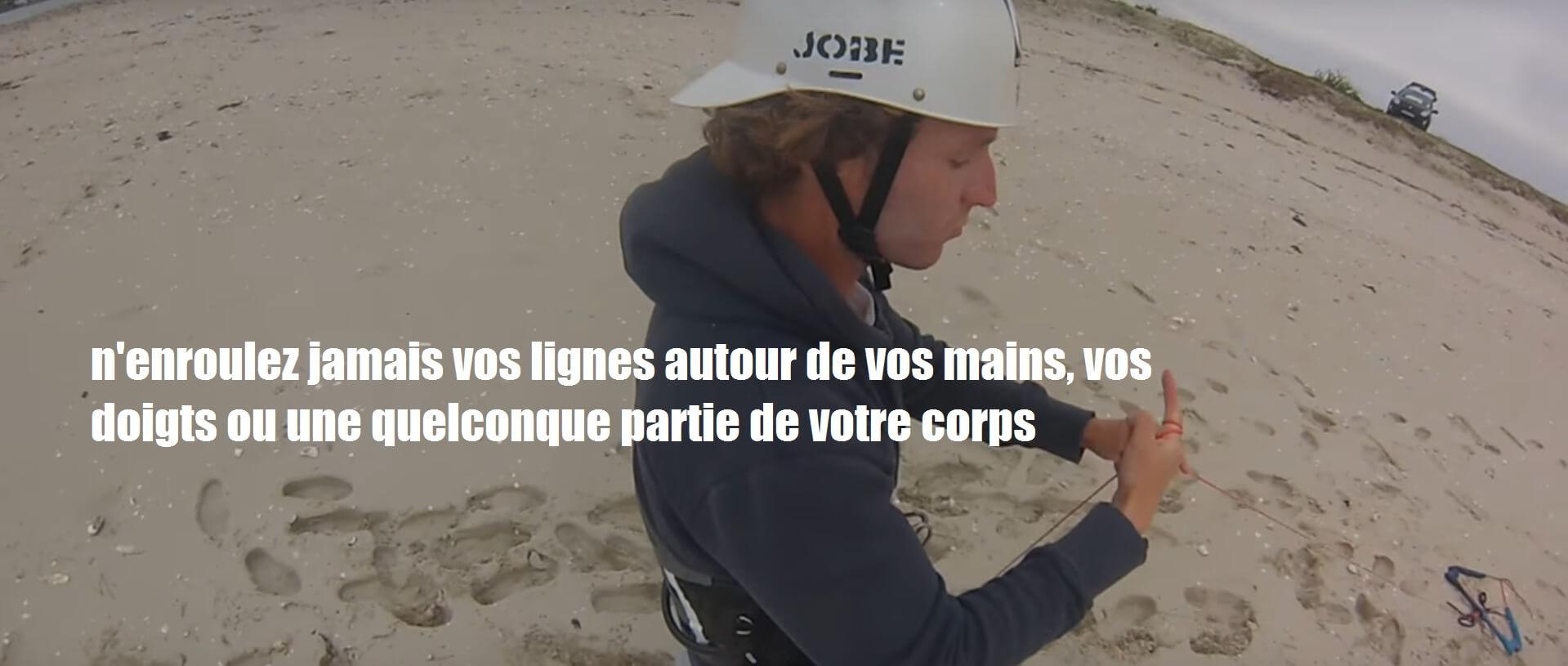 Self rescue kitesurf