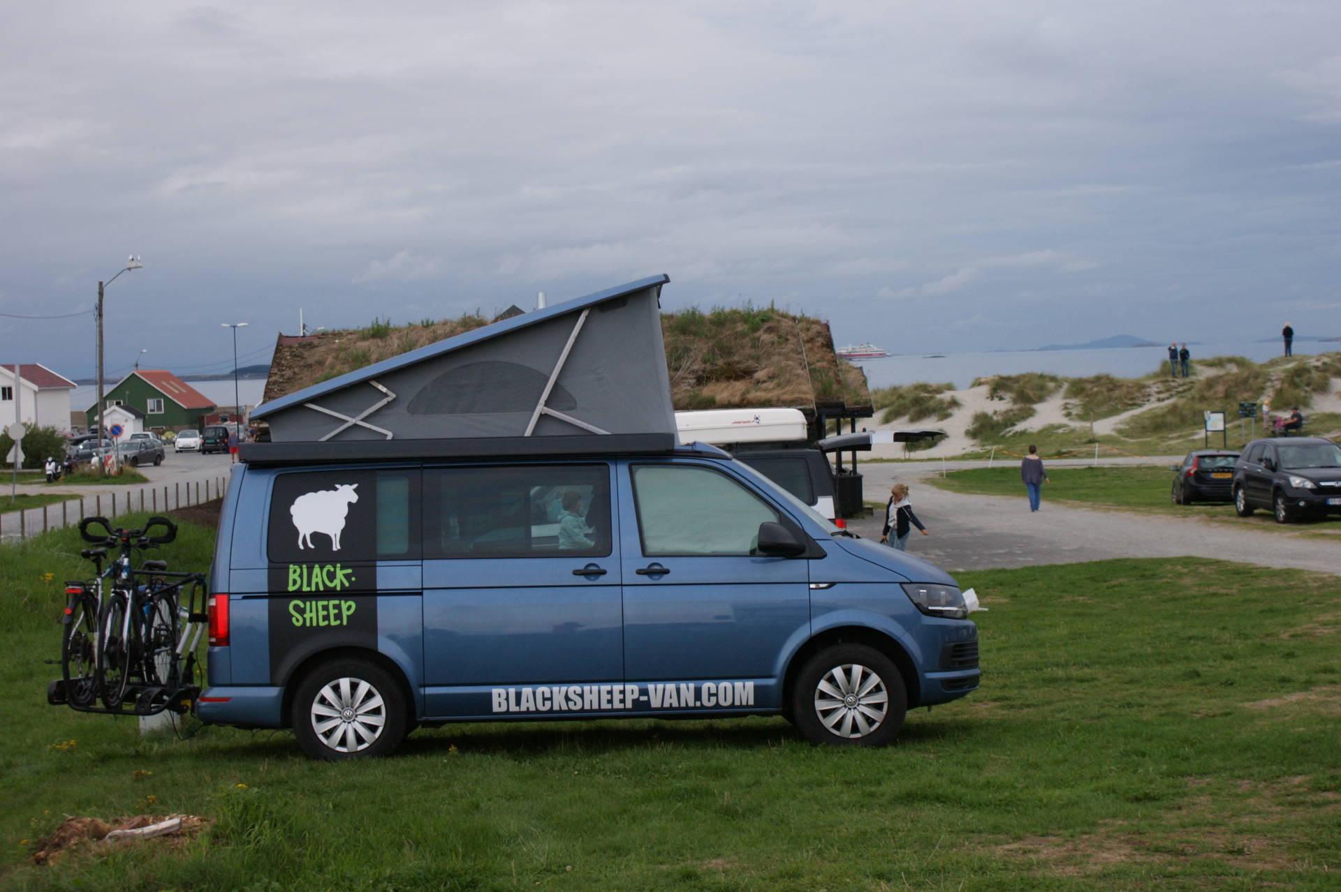 camper van road trip kite